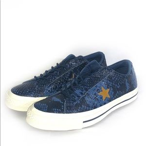 NWOB Converse One Star Ox Snakeskin size 9.5